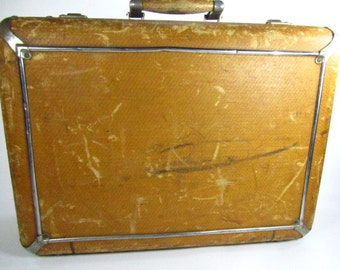 Masterbilt Suitcase, antique suitcase, vintage Luggage, Travel Bag, Tough Suitcase,brown suitcase,