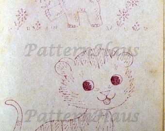 Vintage Embroidery  Nursery Patterns Instant Downloads