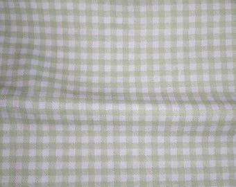 Tan Gingham Fabric