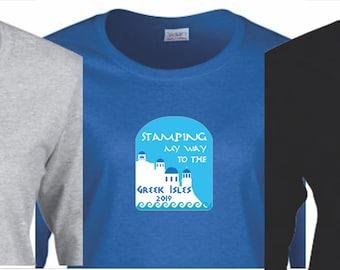Greek Isles Goal Tee- 3 Colors, LS with Glitter Print!