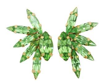 "Tova ""Jacy"" swarovski crystal mohalk earring"