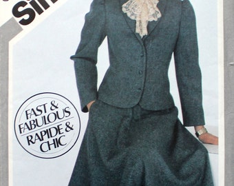 UNCUT Skirt Suit with Shawl Collar Bust 36