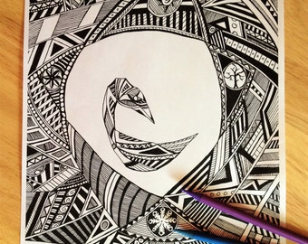 Swan Seasons Coloring Page, Adult Colouring Page, PDF Printable, Color Sheet, Printable Coloring Page – Instant PDF Download Only