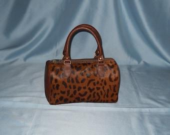 Authentic vintage handbag! Genuine leather and pony hair!