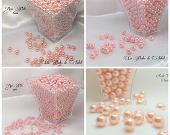 Pearls ROSE PALE glass 4mm, 6mm, 8mm, 10mm