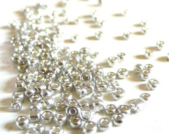 seed beads silver, creative supply, seed beads, beading, 5g, 2.5 mm