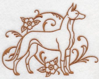 Graceful Ibizan Hound Embroidered Flour Sack Hand/Dish Towel