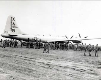 Poster, Many Sizes Available; Boeing B-29 Superfortress On Iwo Jima 1945