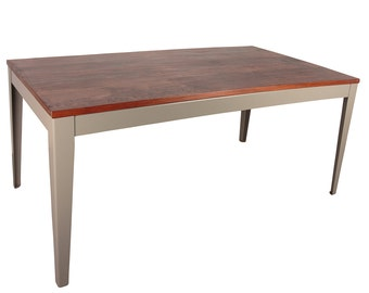 Industrial Style Reclaimed Iroko Table 900x900, 1800x900mm