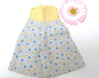 Yellow, Blue, & Pink Dotted Jumpsuit Pantsuit for Baby Doll  ~ Vintage Dolly Coton Sunsuit
