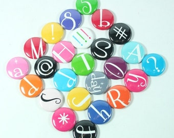 Custom dry erase board Magnets  - Individual Letter Magnet, Alphabet Magnet,  fridge magnets
