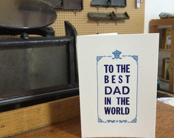 Letterpress typeset card - Father's day card