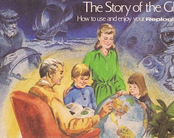 Vintage The Story of the Globe, Replogle Globe Co. Booklet 1974 Great Pics and Graphics