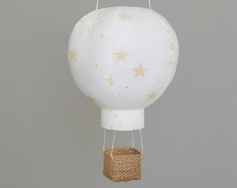 Hot Air Balloon Baby Shower Decoration in Lucky Star, Travel Nursery Decor, Baby Gifts