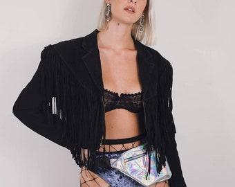 Vintage Fringe Suede Jacket || Fringe Jacket || Leather Fringe Jacket || Vintage Leather || 70s Fringe Jacket || 80s fringe jacket