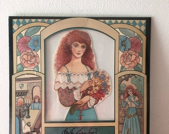 Memorial Day Vintage Beauty and the Beast Paper Dolls
