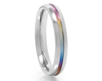 Rainbow Titanium Ring