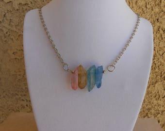 Multi Color Quartz Necklace
