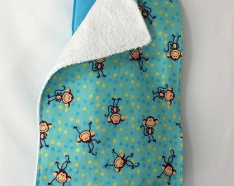 Gorgeous Turquoise 48 X 48  Muslin Swaddling Blanket & Burp Cloth Combo - Burp Cloth  Double Sided, Very Absorbent - Great Baby Shower Gift