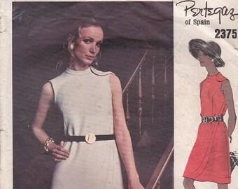 ON SALE Vogue Couturier Design Pattern - Pertegaz of Spain No 2375 Dress Size 12 Cut and complete