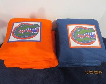 University of Florida Gators - Set of 8 Corn Hole Bags w/Game & Scoring Rules