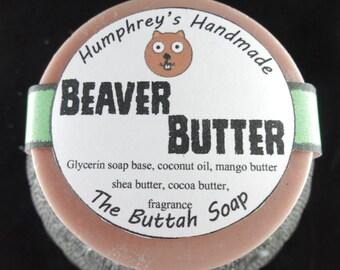 BEAVER BUTTER Soap, Pine Woods Amazing Buttah Soap, Cocoa Butter, Shea Butter, Mango Butter