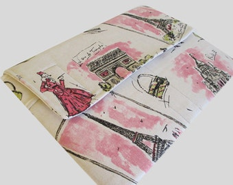 Microsoft Surface Case, Surface Book Case, Surface Sleeve, Surface Cover, Surface Pro 2 3 4 RT Case Pink Paris
