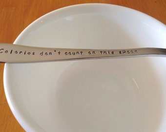 Calories Don't Count On This Spoon,Mum Spoon,Mum Gift Idea,Dad Gift idea