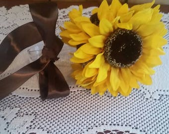 Sunflower pew decoration