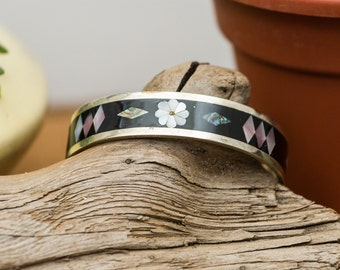 Mexican Cuff Bracelet Abalone Mother of Pearl