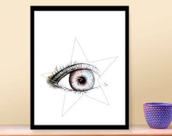 Instant Download Art - Light Blue Iris - Eye Printable Art - Print at Home - Printable Downloads -  Printable Wall Art - DIY Printables