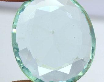 77.40Ct Certified Oval Shape Fantastic London Sky Blue Topaz Loose Gemstone AQ2332