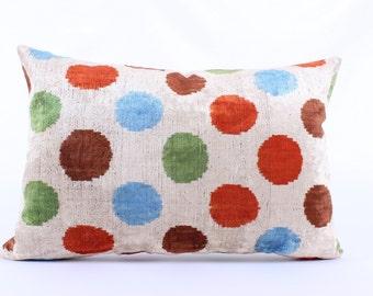Polka Dot Pillow - Ikat Pillow Set Riot of colors, Pillow,Decorative Modern Pillows, Retro, Houseware, Throw Pillows, Sofa - Decor Pillow
