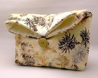 Foldover clutch, Fold over bag, clutch purse, evening clutch, wedding purse, bridesmaid gifts - Chrysanthemum (Ref. FC34)