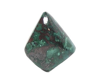 Chrysocolla Blue Green with Metallic Red Cuprite semiprecious gem silica Cabochon, Copper Natural Mineral Jewel Semi Precious loose gemstone