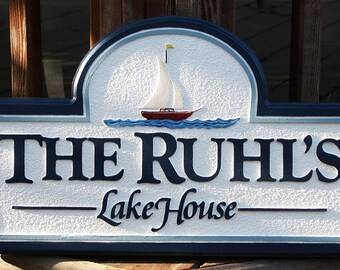 Custom lake house sign,lake house signs,outdoor custom signs,personal name signs,beach house signs,custom outdoor signs for home,cabin signs