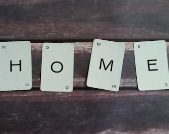 Buchstaben-Karten-4 Buchstaben wählen Sie Ihr eigenes Wort, Home, Kiss, Grow, Liebe