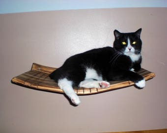 Wall Mounted Large Curvy Cat Shelve