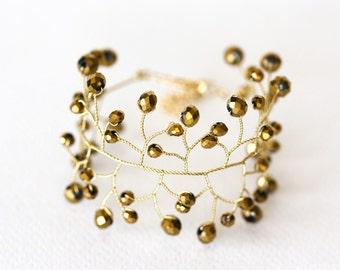 Gold bracelet bridal Crystal bracelet Wedding bracelet Bridal jewelry Gold jewelry Bridesmaid jewelry Bridesmaid bracelet Bridal bracelet 61