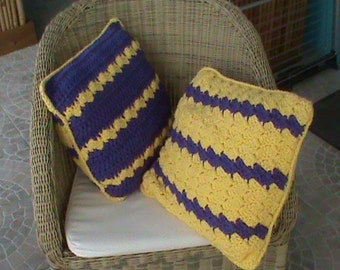 cushions wool lot of two vintage cushion