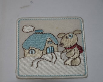 Embroidered iron or sew