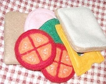 Felt play food - pretend food - play kitchen food - sandwich - perfect for kids play kitchen  #PF2501