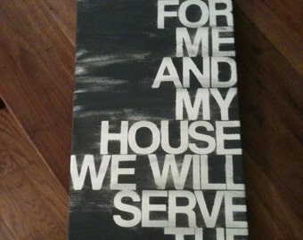 10x20 hand painted canvas sign