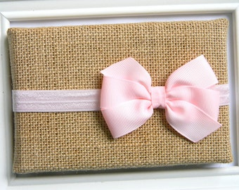 Light Pink Bow Headband - Newborn Bow Headband - Baby Bow Headband - Pink Bow Headband