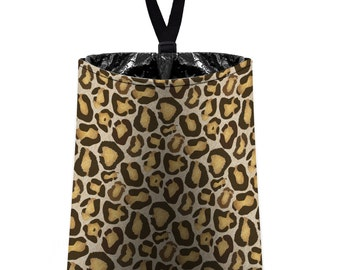 Car Trash Bag // Auto Trash Bag // Car Accessories // Car Litter Bag // Car Garbage Bag - Leopard Print