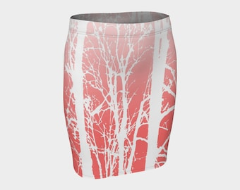 Womans pink and white tree skirt