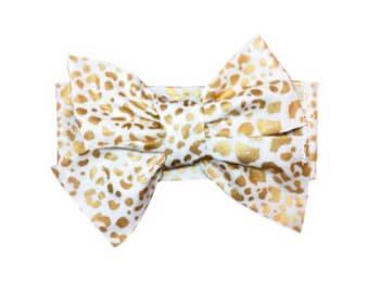 Metallic Gold Leopard Head Wrap
