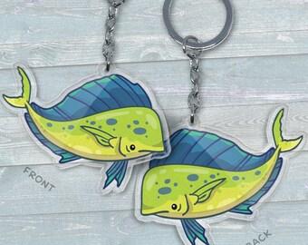 Mahi Mahi Dolphinfish - Acrylic Phone Charm / Keychain / Necklace