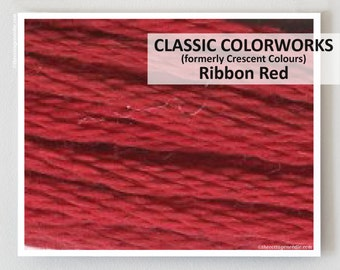 RIBBON RED Classic Colorworks hand-dyed embroidery floss cross stitch thread at thecottageneedle.com