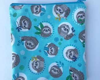 Sloths Sandwich Bag - Kids - Back to School - Sandwich Bag - Lunch Bag - Kids Sandwich Bag - Litterless Lunch - Reusable